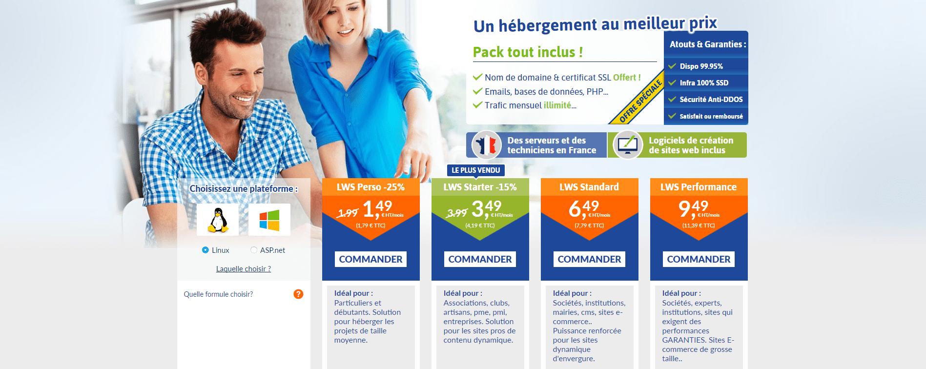 hébergement-web-lws