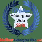 """Récompense """"MEILLEUR HEBERGEUR WEB"""""""