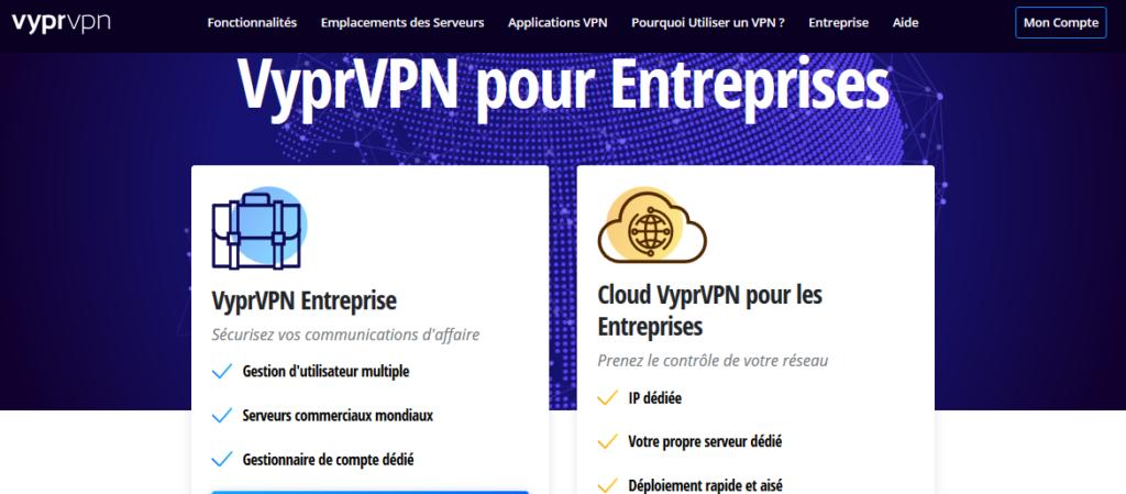 Solutions VPN pour les entreprises VyprVPN