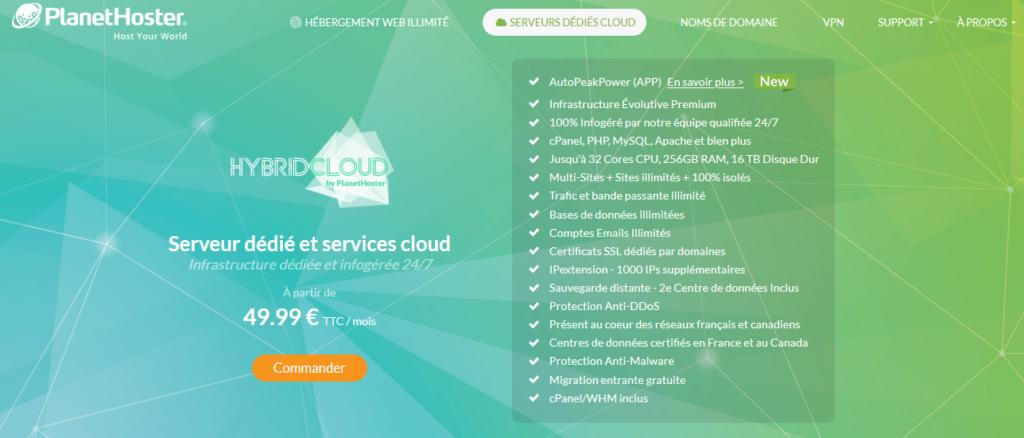 Hébergeurs Cloud PlanetHoster