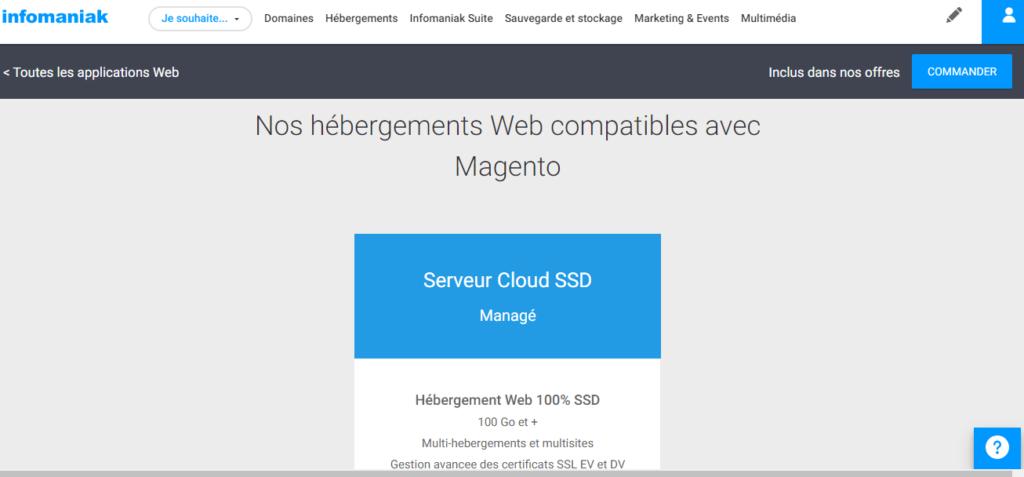 Hébergeurs pour Magento Infomaniak