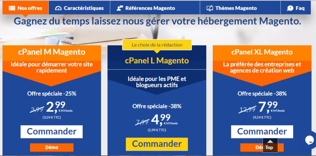 Hébergeurs pour Magento LWS