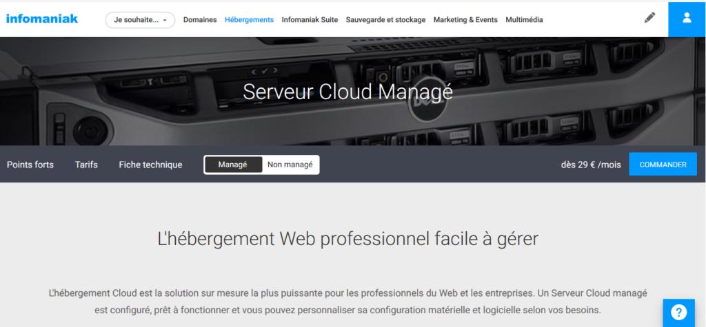 Hébergement Cloud d'Infomaniak