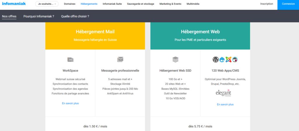 Hébergement e-mail d'Infomaniak