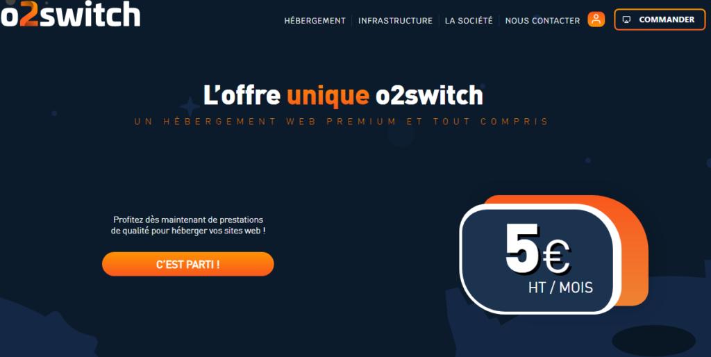 Hébergement Partagés Français o2switch