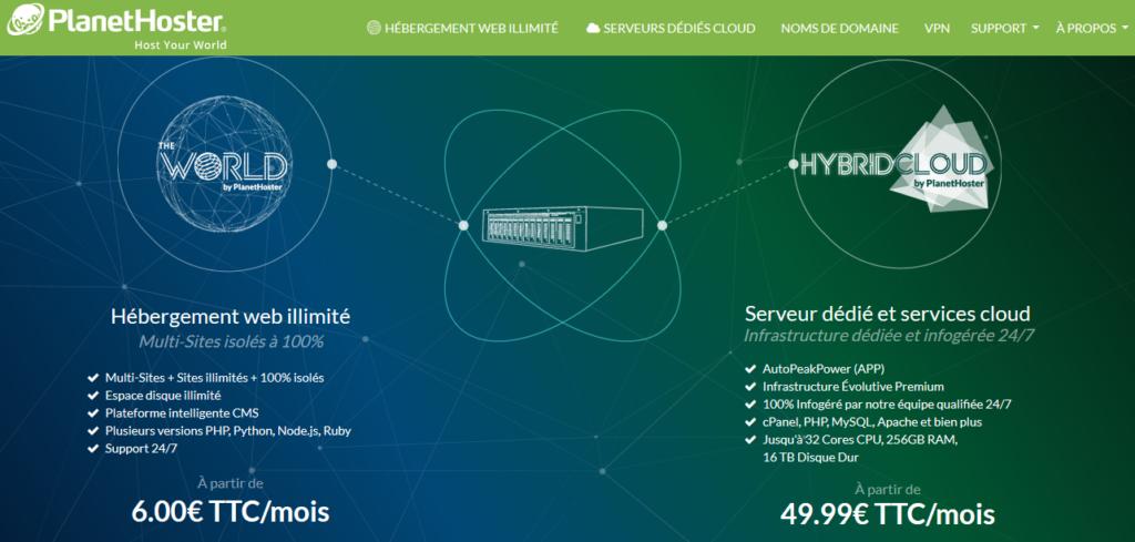 Hébergement web françaises PlanetHoster