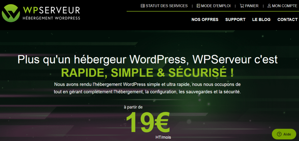 Hébergement web françaises WP Serveur