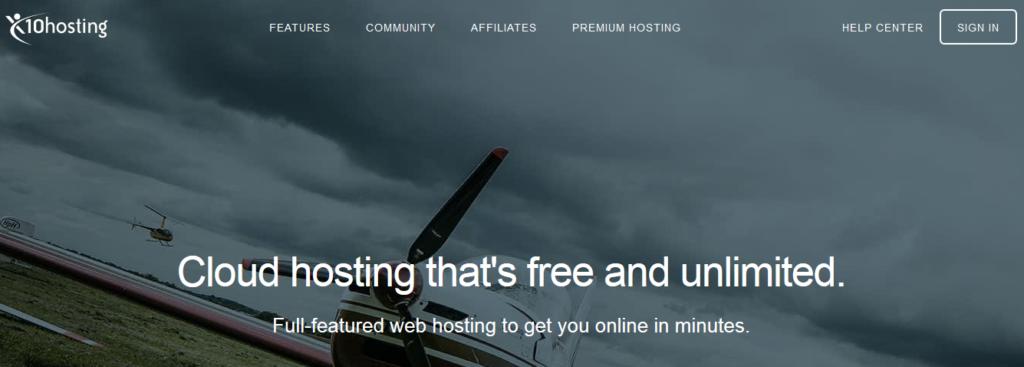 Hébergements Web gratuits x10Hosting