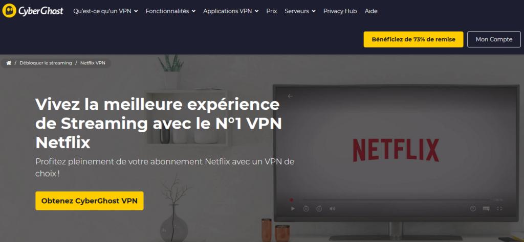 VPN pour débloquer Netflix US CyberGhost