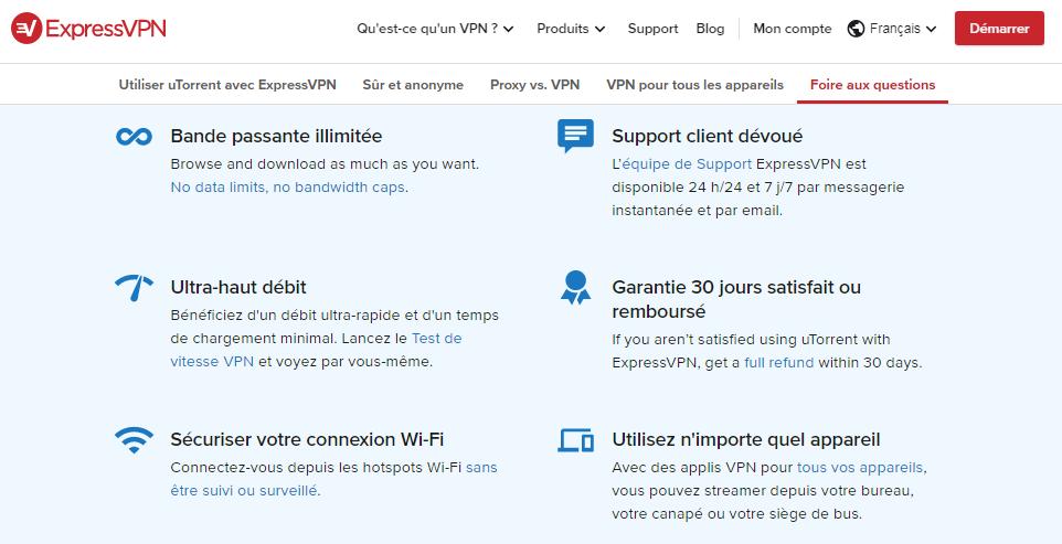 VPN pour télécharger des torrents ExpressVPN