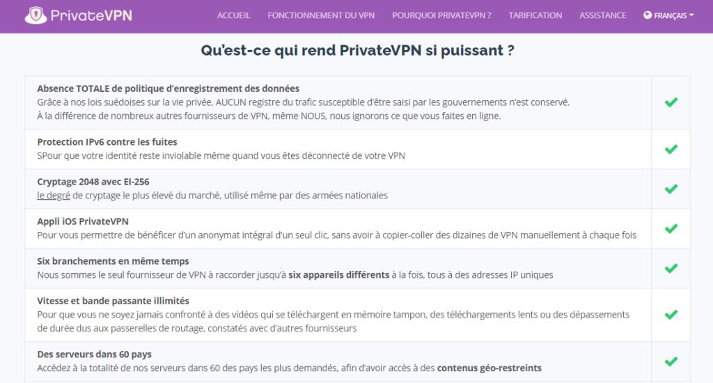VPN pour télécharger des torrents PrivateVPN