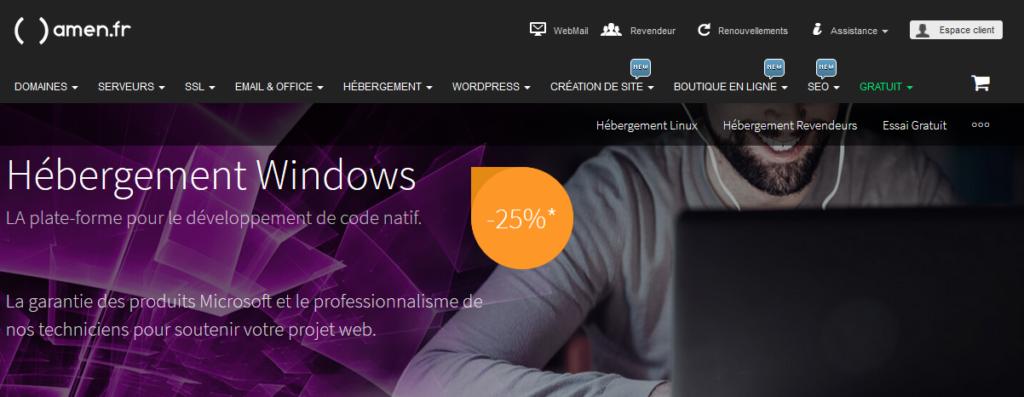 Amen hébergeurs Windows/ASP.NET