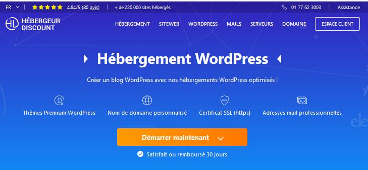 hebergement wordpress discount