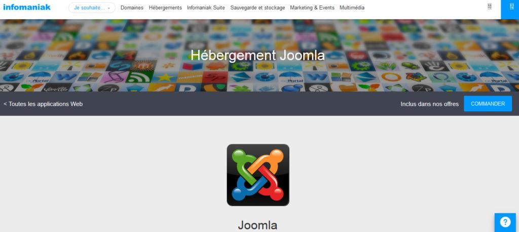 Hébergements pour Joomla Infomaniak