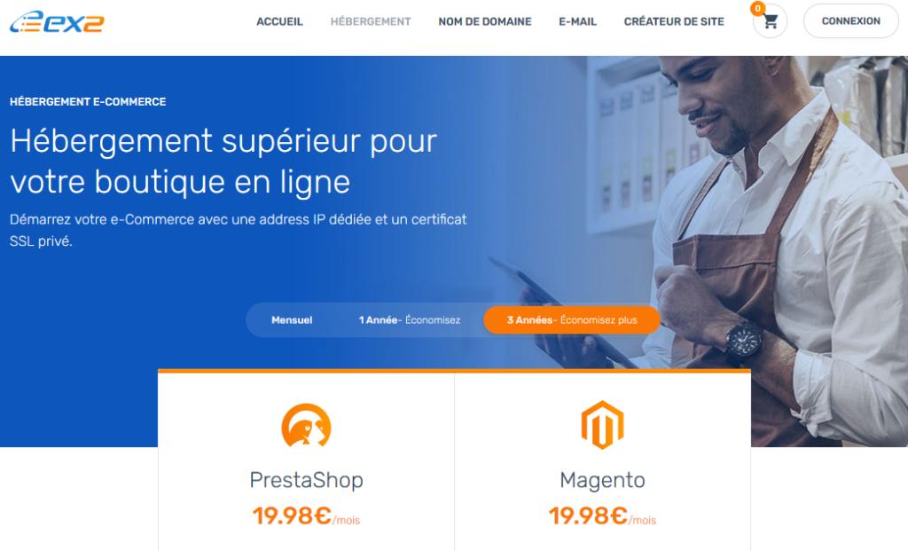 Hébergeurs e-commerce EX2