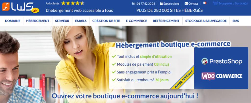Hébergeurs e-commerce LWS
