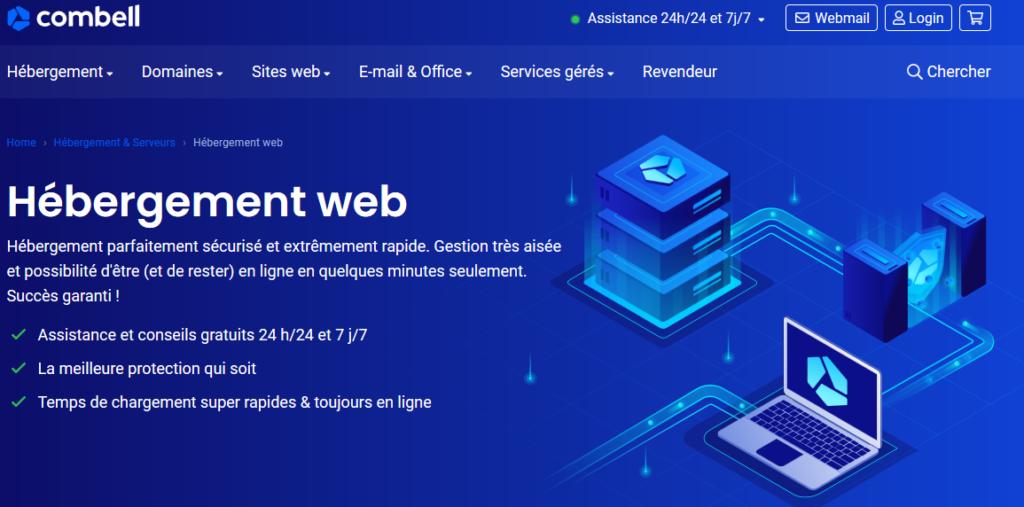 Hébergeurs web Belgique Combell