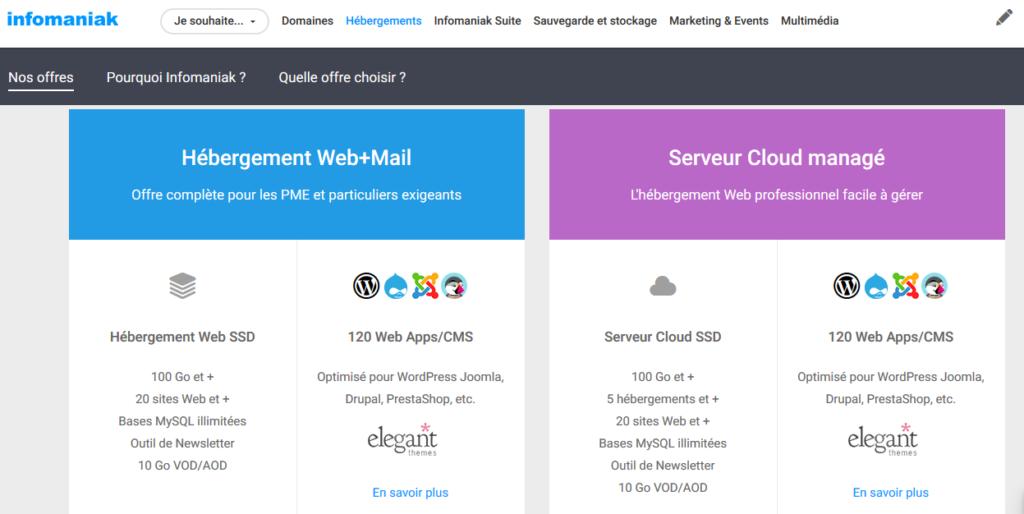 Hébergeurs web Belgique Infomaniak
