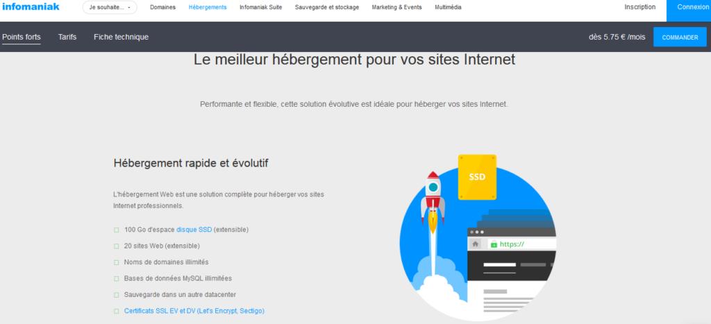 Hébergeurs web pour la Suisse Infomaniak