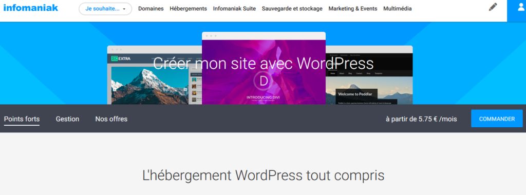 Hébergeurs WordPress Infomaniak