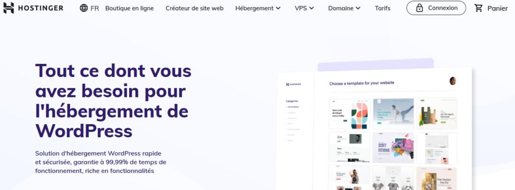 Hostinger hébergeurs pour WordPress