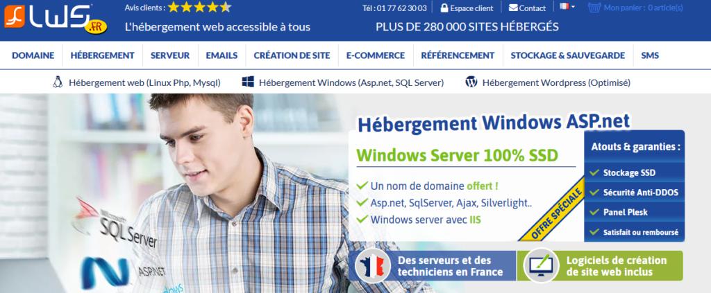 LWS hébergeurs Windows/ASP.NET