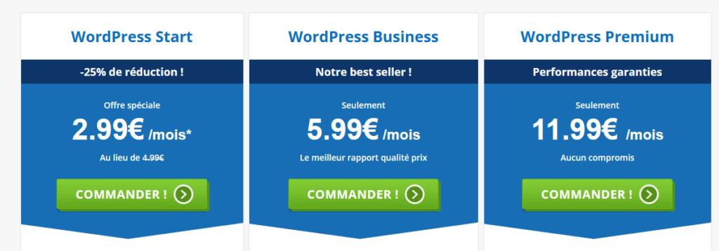 wordpress hebergement